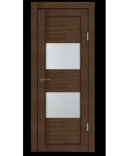 Дверь M1 ларче орех, стекло сатин, Mart