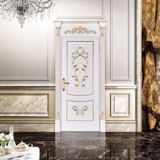 Белые двери с золотом