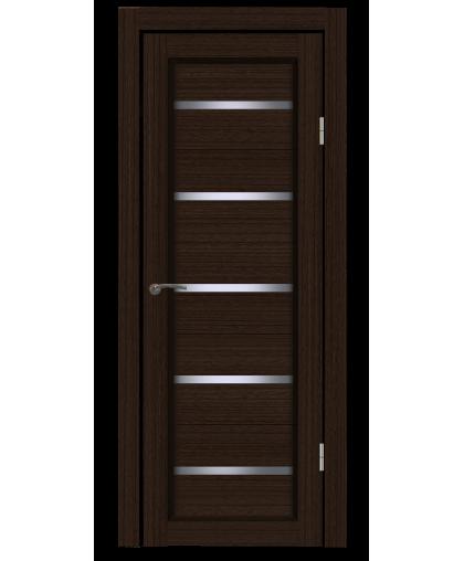 Дверь B1 венге, стекло сатин, Mart